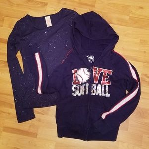 JUSTICE | softball hoodie ⚾ & sparkle top